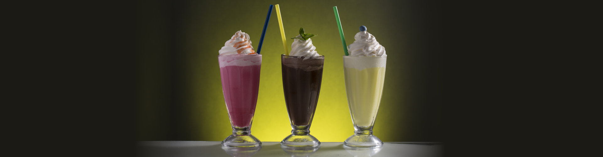 Colorful cold frappe for the hot summer days